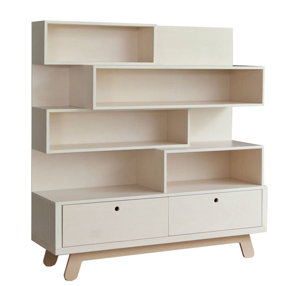 Lidor - BOEKENKAST BOOKCASE THE PEEKABOO NATURAL-WHITE