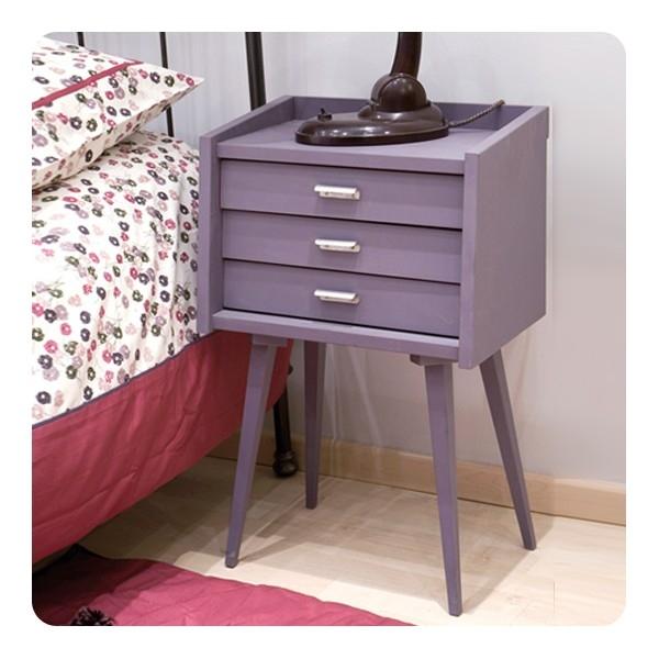 Lidor nachtkastje chevet des secrets turquoise - Laurette meubles ...