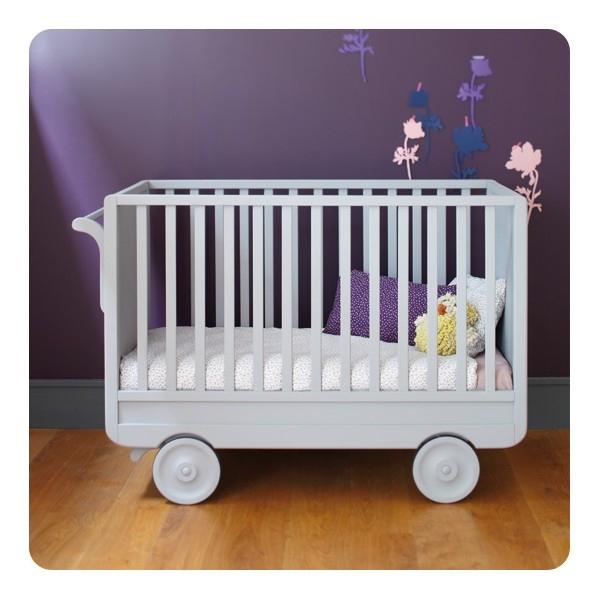 lidor ledikant lit roulette gris. Black Bedroom Furniture Sets. Home Design Ideas
