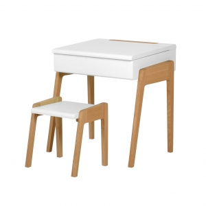Bureau My Little Pupitre + Stool White van Jungle By Jungle