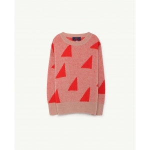 Geometric Bull Kids Sweater Red Apple van The Animals Observatory