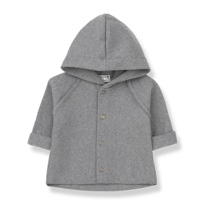 Palermo Hood Jacket Light Grey van 1 + In The Family