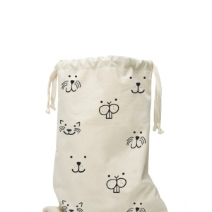Fabric Bag Animal Face van Tellkiddo