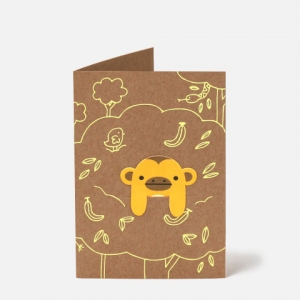 Jungle Fun Bookmark Card van Noodoll