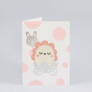 New born pink bookmark card van Noodoll
