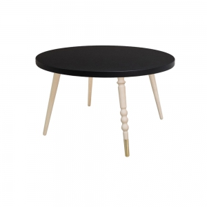 Tafel Round Coffee Table My Lovely Ballerine Black-Beech van Jungle By Jungle