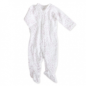 Zipper one-piece lange mouw lovely mini hearts van Aden + anais
