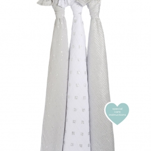 Swaddle Metallic Charm 3pack van Aden + Anais