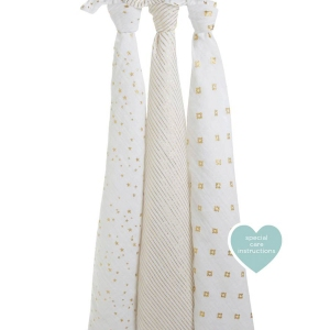 Swaddle Metallic Gold 3 Pack van Aden + Anais