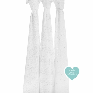 Swaddle Metallic Silver Deco 3 Pack  van Aden + Anais
