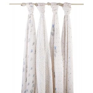 Swaddle Night Sky Classic 4pack van Aden + Anais