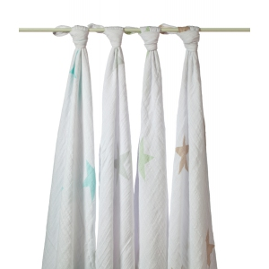 Swaddle Super Star Scout Classic 4pack van Aden + Anais