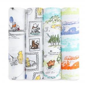 Swaddle Winnie The Pooh 4pack Limited Edition van Aden + Anais