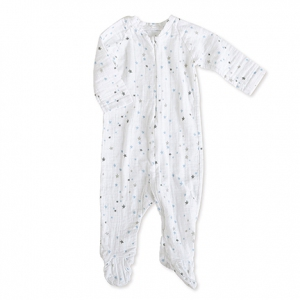 Zipper one-piece lange mouw night sky starburst van Aden + anais
