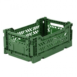 Folding Crate Dark Green van Aykasa
