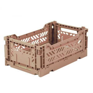 Folding Crate Warm Taupe van Aykasa