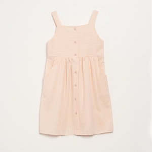 Peach Dress With Straps And Buttons van Barn Of Monkeys