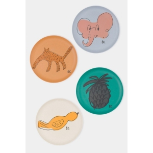A Dance Romance Bamboo Plates Pack Of 4 van Bobo Choses