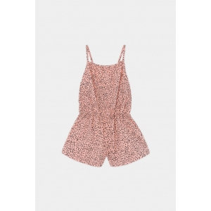 All Over Leopard Woven Playsuit van Bobo Choses