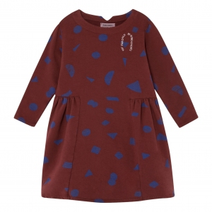 All Over Stuff Fleece Dress van Bobo Choses