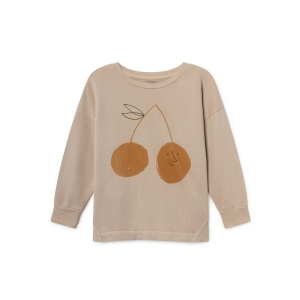 Cherry Round Neck Sweatshirt van Bobo Choses