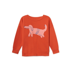 Paul's Dog Round Neck Sweatshirt van Bobo Choses