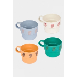 Pineapple Bamboo Cup Pack Of 4 van Bobo Choses