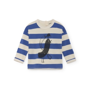T-Shirt Bird Round Neck van Bobo Choses