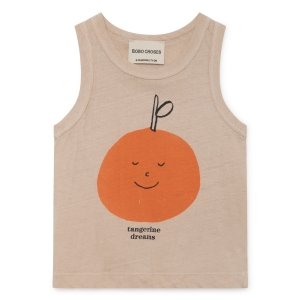 Tangerine Dreams Linen Tank Top van Bobo Choses