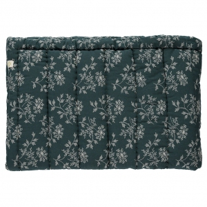 Blanket Hanako Floral Thunder Blue Twin van Camomile London