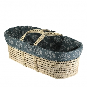 Hanako Thunder Blue Moses Basket Liner van Camomile London