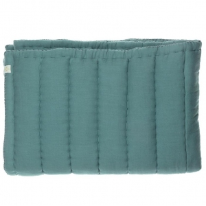 Hand Quilted Blanket Teal van Camomile London