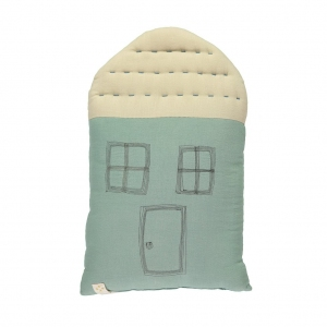 Midi House Cushion Light Teal Stone van Camomile London