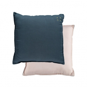 Padded Cushion Midnght Blue/Pearl Pink van Camomile London