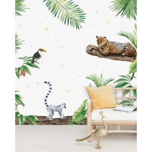 Jungle Tiger Wallpaper Mural van Creative Lab Amsterdam