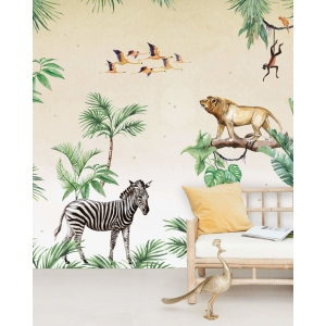 King Of The Jungle Wallpaper Mural van Creative Lab Amsterdam
