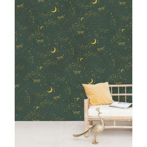 Stargazer Wallpaper Mural Gold van Creative Lab Amsterdam
