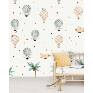 Little Balloon Wallpaper Mural van Creative Lab Amsterdam