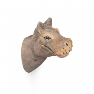Animal Hand Carved Hook Hippo van Ferm Living