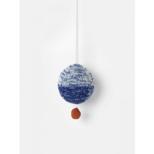 Ball Knitted Music Mobile Blue van Ferm Living