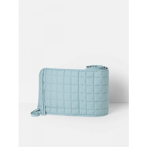 Hush Quilted Bed Bumper Dusty Blue van Ferm Living