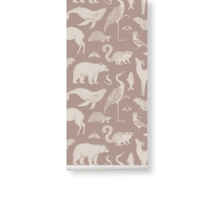 Katie Scott Animal Wallpaper Dusty Rose van Ferm Living