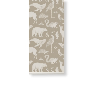 Katie Scott Animal Wallpaper Sand van Ferm Living