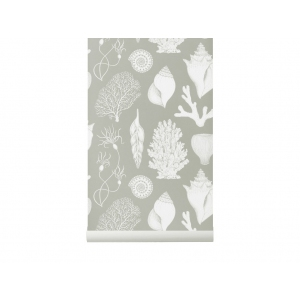 Katie Scott Shells Wallpaper Aqua van Ferm Living
