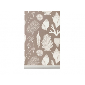 Katie Scott Shells Wallpaper Dusty Rose van Ferm Living