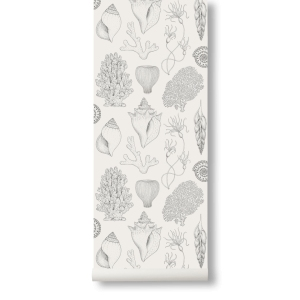 Katie Scott Shells Wallpaper Off White van Ferm Living