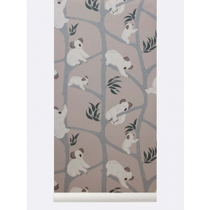 Koala Wallpaper Grey van Ferm Living