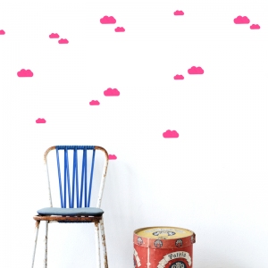 Mini Clouds Muurstickers - Neon van Ferm Living