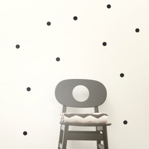 Mini Dots Muurstickers - Black van Ferm Living