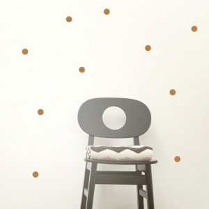 Mini Dots Muurstickers - Copper van Ferm Living
